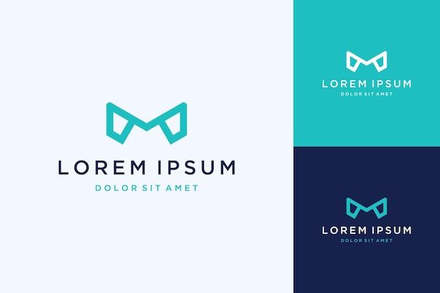 Nowoczesny projekt logo monogramu lub inicjały litera m z grafiką liniową