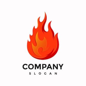 Nowoczesny projekt logo płomienia