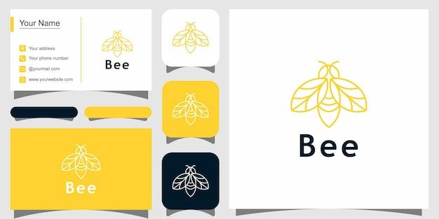 Nowoczesny projekt logo pszczół