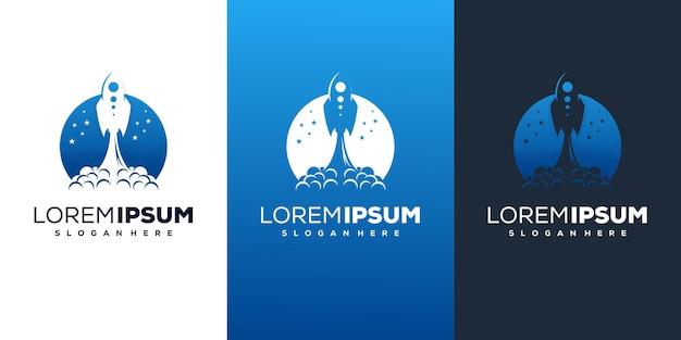 Nowoczesny projekt logo rakiety
