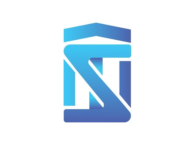 Nowoczesny projekt logo tnz z kombinacją liter