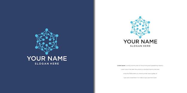 Nowoczesny projekt logo z kręgiem połączonych kropek jako wektorem logo sieci
