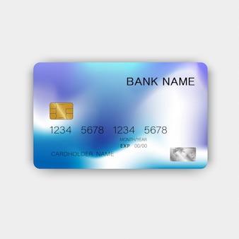 Nowoczesny projekt niebieskiej karty kredytowej