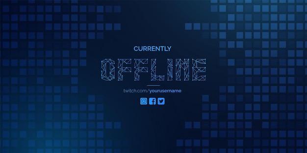 Nowoczesny projekt offline obecnie z technologią w tle