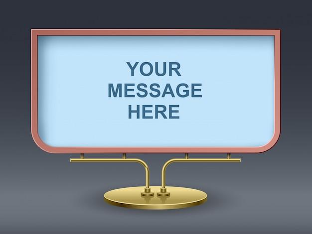 Nowoczesny projekt reklamowy o prostokątnym kształcie
