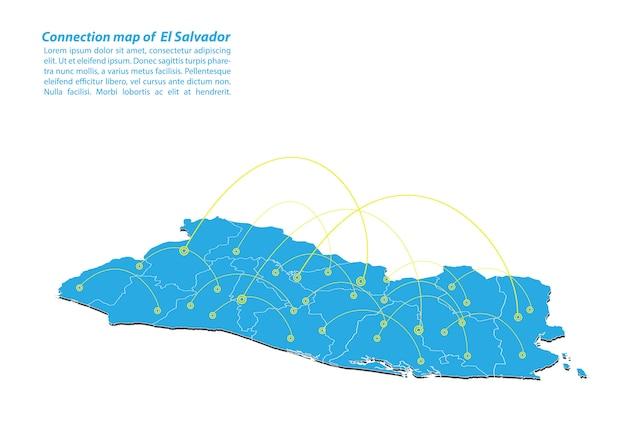 Nowoczesny projekt sieci połączeń el salvador map
