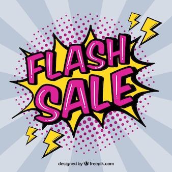 Nowoczesny projekt sprzedaży flash w stylu komiksu