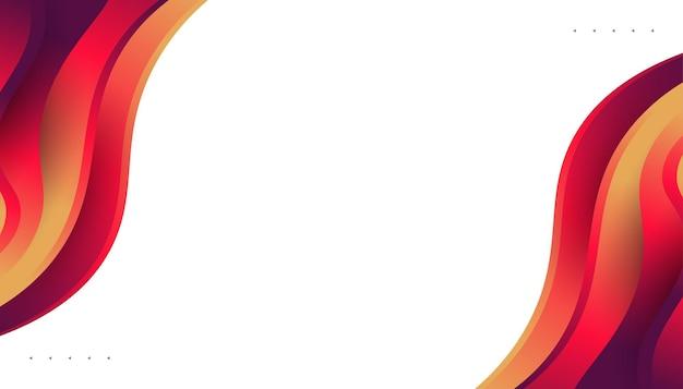 Nowoczesny projekt streszczenie tło z kolorowymi kształtami cieczy. płynny projekt tła strony docelowej, motywu, broszury, banera, okładki, druku, ulotki, książki, karty lub reklamy