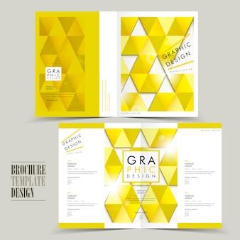Nowoczesny projekt szablonu broszury składanej na pół z elementami trójkąta