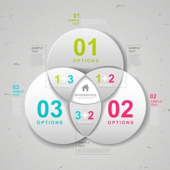 Nowoczesny projekt szablonu infografiki z elementami koła