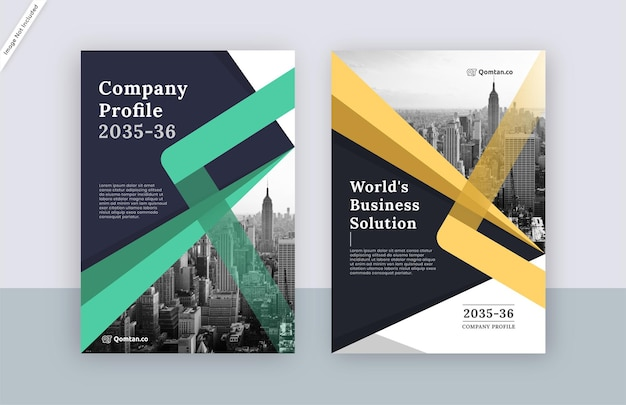 Nowoczesny projekt szablonu okładki broszury