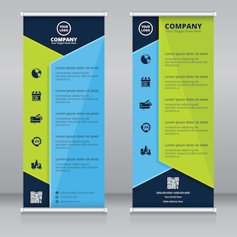Nowoczesny projekt szablonu roll up banner