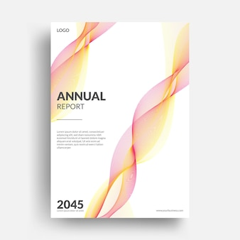 Nowoczesny projekt układu okładki książki rocznej firmy