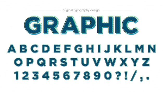 Nowoczesny projekt zielonej typografii