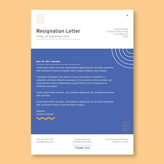 Nowoczesny prosty list rezygnacyjny z marketingu