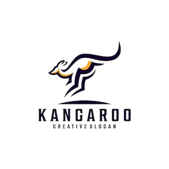 Nowoczesny prosty szablon logo kangura