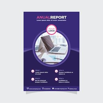 Nowoczesny raport roczny w abstrakcyjnym projekcie
