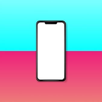 Nowoczesny realistyczny smartfon