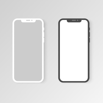 Nowoczesny realistyczny szablon smartfona