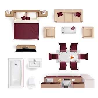 Nowoczesny salon z mieszkaniem