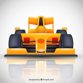 Nowoczesny samochód wyścigowy formuły 1 o płaskiej konstrukcji