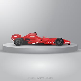 Nowoczesny samochód wyścigowy formuły 1 o realistycznym designie
