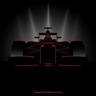 Nowoczesny samochód wyścigowy formuły 1 o realistycznym stylu