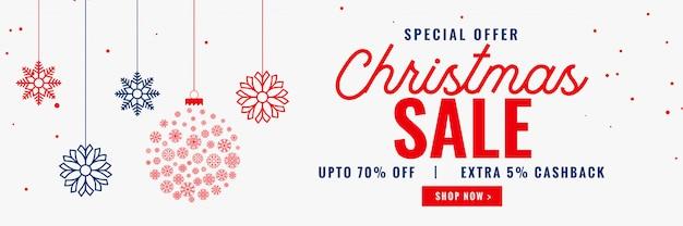 Nowoczesny sezon świąteczny projekt transparent sprzedaży
