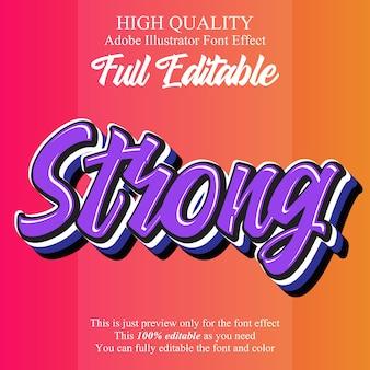 Nowoczesny silny efekt edytowalnej czcionki typograficznej