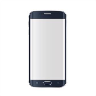 Nowoczesny smartfon na białym tle