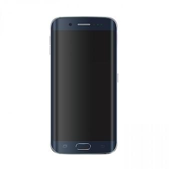 Nowoczesny smartfon z przyciskiem i pustym czarnym ekranem