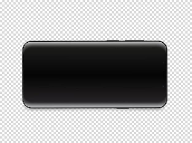 Nowoczesny smartfon z pustym ekranem.