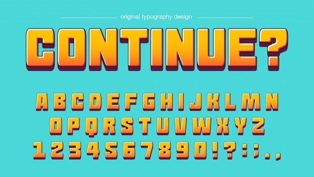 Nowoczesny śmiały pomarańczowy typografia