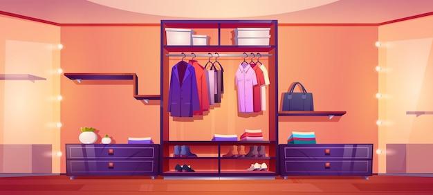 Nowoczesny spacer w szafie z męskimi ubraniami