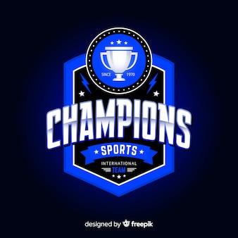 Nowoczesny sport logo szablon z streszczenie
