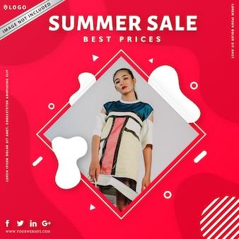 Nowoczesny sprzedaż transparent moda