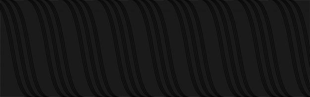 Nowoczesny streszczenie ciemny szary wzór linii fal