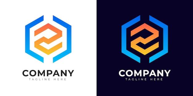 Nowoczesny styl gradientu początkowa litera z szablon projektu logo