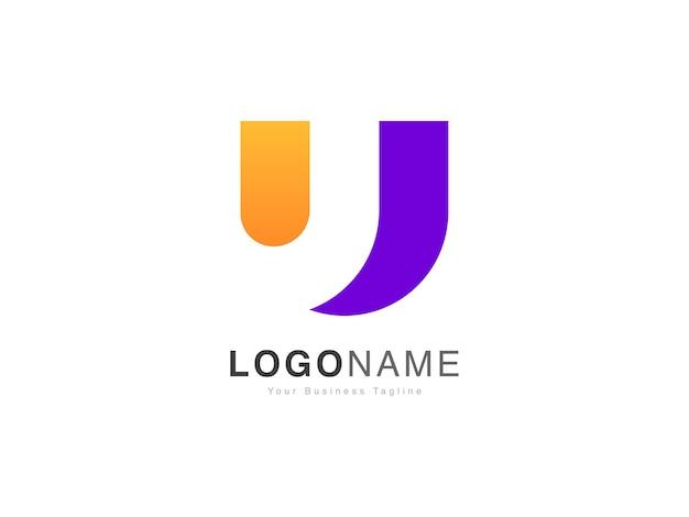 Nowoczesny styl gradientu początkowe logo litery u