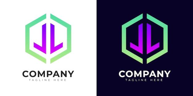 Nowoczesny styl gradientu początkowej litery l szablon projektu logo
