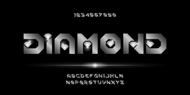 Nowoczesny styl miejski typografia czcionki alfabetu streszczenie