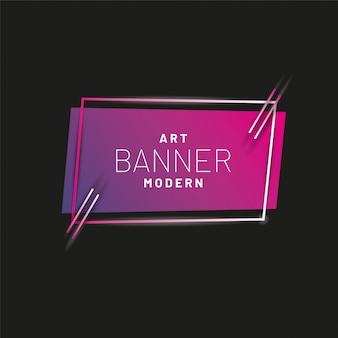 Nowoczesny styl streszczenie transparent z jasne linie neon i ramki na nagłówek