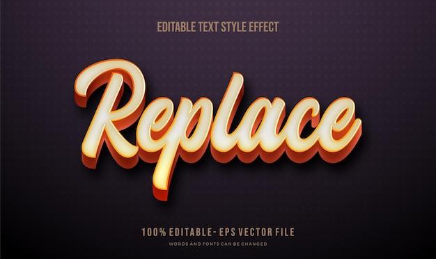 Nowoczesny stylowy efekt tekstu ilustratora,