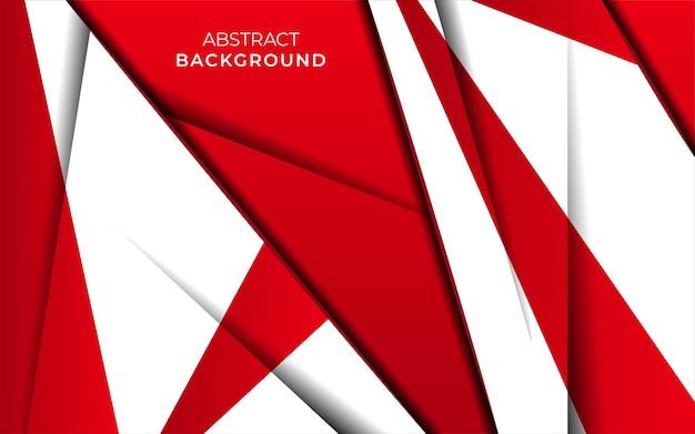 Nowoczesny stylowy projekt banera na czerwonym tle z efektem papieru