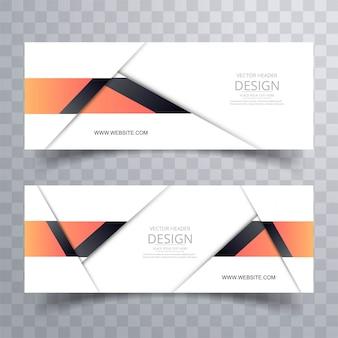 Nowoczesny stylowy transparent projektu zestaw szablon wektor