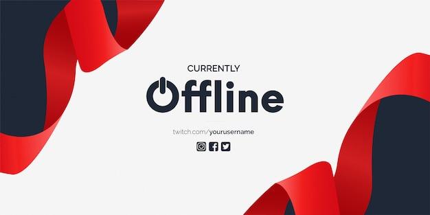 Nowoczesny szablon banera obecnie offline