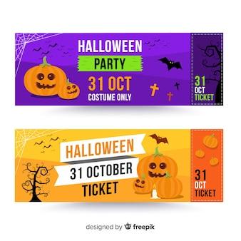 Nowoczesny szablon biletu halloween