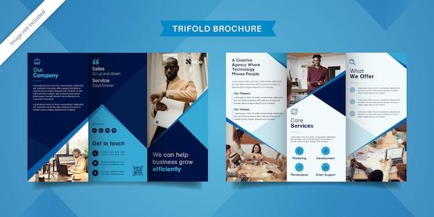 Nowoczesny szablon broszury składanej