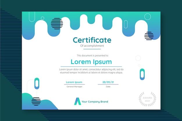 Nowoczesny szablon certyfikatu realizacji