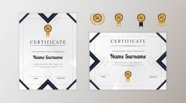 Nowoczesny szablon certyfikatu uznania